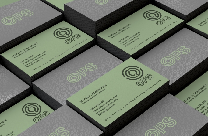 Painted EDGE Business Cards in Black with Silk Lamination & Spot Gloss Finish